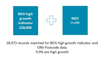 Summary of BEIS high growth and MES